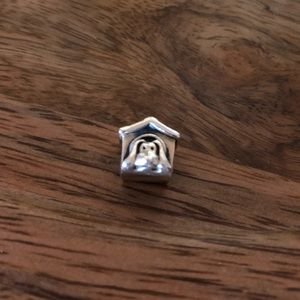 Authentic Pandora sterling silver charm, dog house